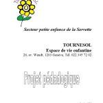 Projet pédagogique de l'EVE Tournesol