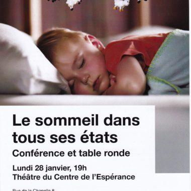 Le sommeil dans tous ses états – Conférence et table ronde